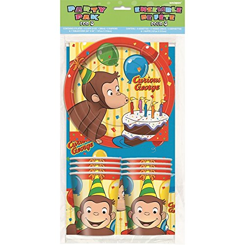 Image of Curious George Party Pack for 8