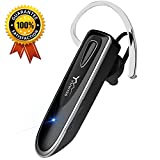 Bluetooth Headset Handy Yuwiss Kopfhörer Bluetooth V4.1 Einseitiges Ohrhörer Freisprech Headset Telefonieren in Ear Earbuds mit Mikrofon für Auto Smartphone iPhone Samsung PC (Business Stil Schwarz)