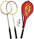 Schildkröt Funsports Badminton-Set 2-Player con 3/4 Cover, Set Badminton, 2 Giocatori, Multicolore
