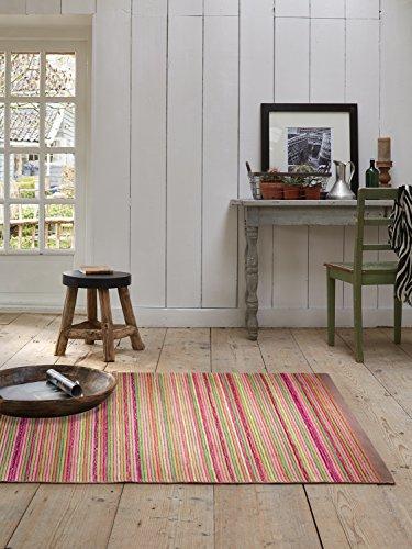 Esprit Teppich Samba Stripes flauschig, weich, handgefertigt in feiner Nadeltechnik (170 x 240 cm, Taupe 01) Samba Stripe
