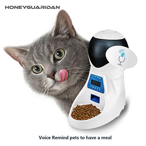 ANMER A25 Futterautomat, Automatischer Futterspender mit akustischer Benachrichtigung und Timer Funktion, 6 Mahlzeiten für Hunde ( Groß, Mittel und Klein ) und Katzen. - 6