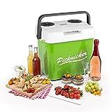 Klarstein Picknicker XL Borsa Termica Elettrica Caldo / Freddo Multifunzione Da Pic Nic Campeggio (32 litri, CLASSE A++, Adattatore auto 12 V incluso, posto per 8 bottiglie da 1 litro) verde