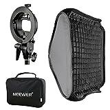 Neewer 80x80cm Attacco Bowens Softbox con Griglia a Nido d'Ape, Staffa-S di Montaggio per Nikon SB series, Canon 380EX, 430EX II, 550EX, 580EX II, 600EX-RT, Neewer TT560 Flash Speedlite