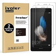[2 Pack] Huawei P8 Lite Protector de Pantalla, iVoler [0.3mm Dureza 9H] Protector de Pantalla de Vidrio Templado Cristal Protector para Huawei P8 Lite -Dureza de Grado 9H, Espesor 0,30 mm, 2.5D Round Edge-[Ultra-trasparente] [Anti-golpe] [Ajuste Perfecto] [No hay Burbujas]- Garantía Incondicional de 18 Meses