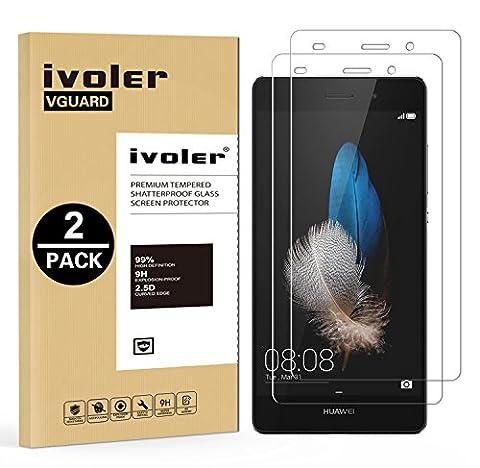 [Lot de 2] Huawei P8 Lite Protection écran, iVoler [0.30 mm Dureté 9H] Film Protection d