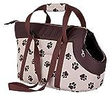 HobbyDog TORBWL4 Hundetasche Tragetasche Katzentasche mit Pfoten, Größe 32 x 30 x 50 cm, beige