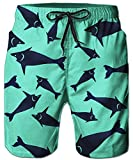 Idgreatim Uomo pantaloncini da spiaggia 3D Print Pantaloni estivi da spiaggia Pantaloncini da bagno Pantaloni Pantaloni Bottoms Jersey Drawstring S