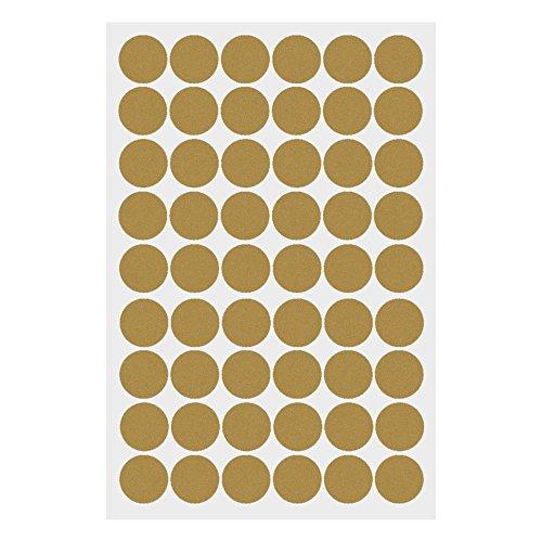 W-top Vinilo Decorativo Pegatina Pared de Ronda de círculo de arte para dormitorios,cocina,sala y ventana ect (Oro)