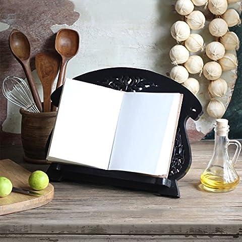 Store Indya, Hechas a Mano palo de rosa libro de cocina de recetas titular Bookstand - iPod de la musica libro Documento plegable del soporte de