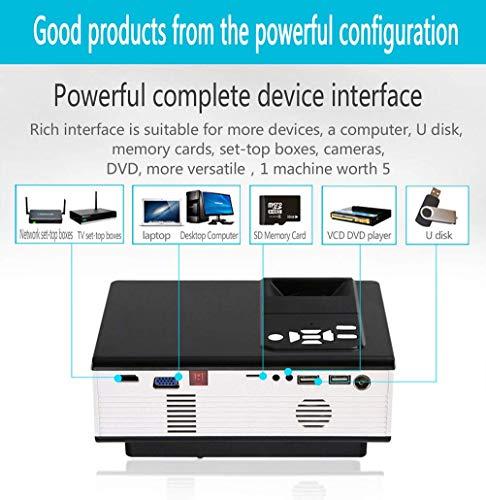 00 Lumen Mini WiFi Projektor, Video Beamer unterstützt 1080P HD, Kompatibel mit HDMI VGA USB AV, Heimkino Beamer, Black ()