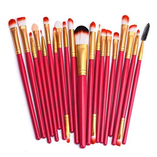 Susenstone 20 pcs Maquillage Brush Set outils Maquillage Trousse de toilette laine maquillage Brush Set