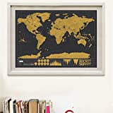 #9: Scratch Map Travel Map Personalized Deluxe home World Map Poster Vacation national geographic world map Wall Sticker art paint 42x30cm