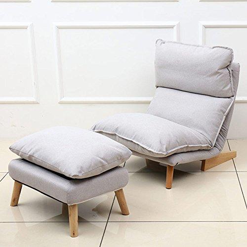 Sofá perezoso Cómoda silla plegable 5 Grados Sofá ajustable Silla Sillón de jardín Sillón reclinable con reposapiés (Color : 04)