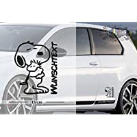 Snoopy #1 | Baby - Name On Board | Wunschtext | Auto Aufkleber | Lustig | Baby On Board