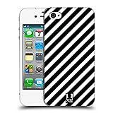 Head Case Designs Zebra Muster Schwarz-Weiss Muster Ruckseite Hülle für Apple iPhone 4 / 4S