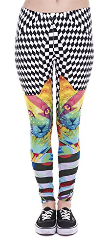 Alive Damen Leggings One size  Gr. One size , Cool Cat