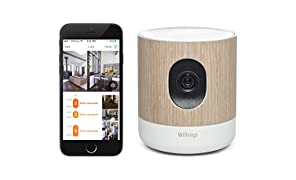 Withings 3700546700477_Wood Home Wi-Fi Security Camera with Air Quality Sensors, Brown