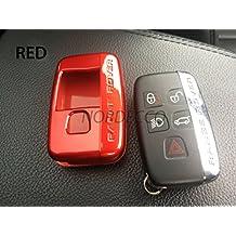 Carcasa rígida de plástico ABS para llave con mando a distancia inteligente de 5botones de Range Rover Evoque Discovery Freelander Sport 2014 a2016 (2 piezas), rojo