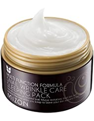 Mizon SNAIL WRINKLE CARE SLEEPING PACK 80ml, Antifalten, Anti-Aging, 50% Schneckenextrakt, Koreanische Kosmetik