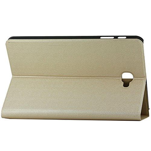 Preisvergleich Produktbild ebestStar - (Kompatibel mit Samsung Galaxy Tab A 10.1 Hülle [A6 (2018, 2016) T580 T585: 254.2 x 155.3 x 8.2mm, 10.1''] Schlank SmartCover [Ultra Dünn] Schutzhülle Etui, Schutz Hülle Stand Case, Gold