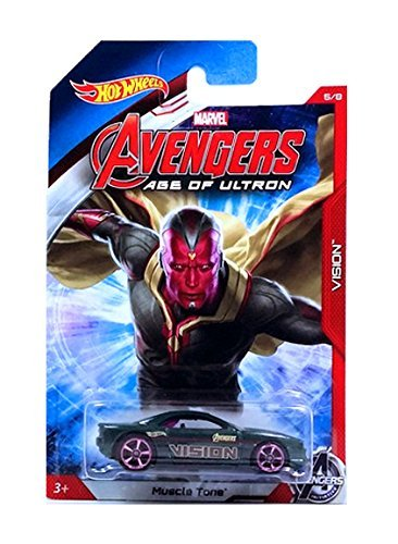 HOT WHEELS MARVEL AVENGERS AGE OF ULTRON VISION MUSCLE TONE 5/8 by Hot Wheels