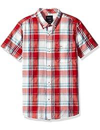 RVCA Big Boys' Stanek Short Sleeve Shirt