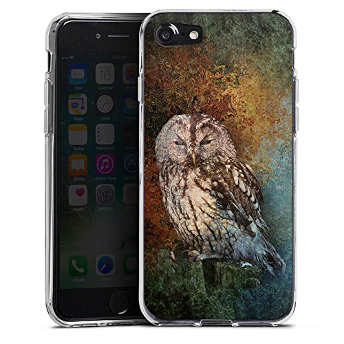 Apple iPhone X Silikon Hülle Case Schutzhülle Eule Wald Kauz Silikon Case transparent