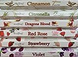 Stamford de Incienso Canela - Allen, citronela, sangre de dragón, rosa, fresa y violeta. 20 palos por la fragancia (120 palos)