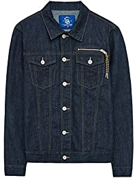 cy Cowboy Coat Men Spring Short Lapel Tops Delgados Washed Vintage Mens Chaquetas Casuales Para Vacaciones