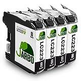 JARBO Ersetzt für Brother LC223 Druckerpatronen (4x Schwarz) für Brother MFC-J5320DW MFC-J5620DW MFC-J5720DW DCP-J562DW DCP-J4120DW MFC-J4420DW MFC-J4620DW MFC-J480DW MFC-J680DW MFC-J880DW
