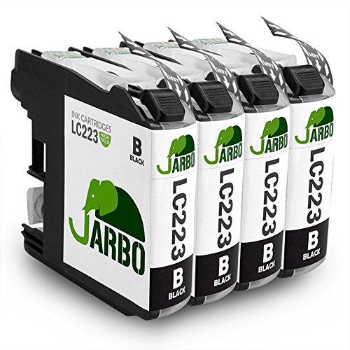 JARBO LC223 4er Schwarz Kompatibel Brother LC223 Druckerpatronen Hohe Kapazität mit Chip Kompatibel...