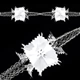 Uwant Fashion Christmas Foil Ceiling Decorations Garlands Stars Snowflakes ¨C silver tone & White