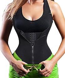 Damen Waist Trainer Shaper Vest Sport Body Cincher Korsett Taille Corsage mit Adjustable Strap (S(Fit 21.2-24.4 Inch Waist), Black (3-5 Days Delivery))