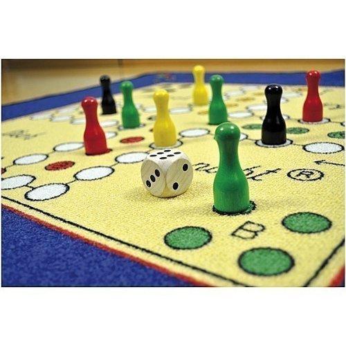 Spielteppich Mensch Ärgere Dich Nicht / Material: Polyamid, Latexrücken / Maße: ca. 92 x 92 x 0,5 cm / Gewicht: 1200 g / 3+ (Teppich 1200,)