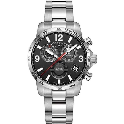 Certina DS Podium GMT Herren-Armbanduhr 42mm Batterie C034.654.11.057.00