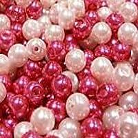 k2-accessories Glass Pearl Beads A0936 - Perline in vetro, colore: rosa misto, 4 mm, 200 pezzi