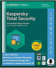 Kaspersky Total Security - 2 Device, 1 Year (Single Key) (Code emailed in 2 Hours - No CD)