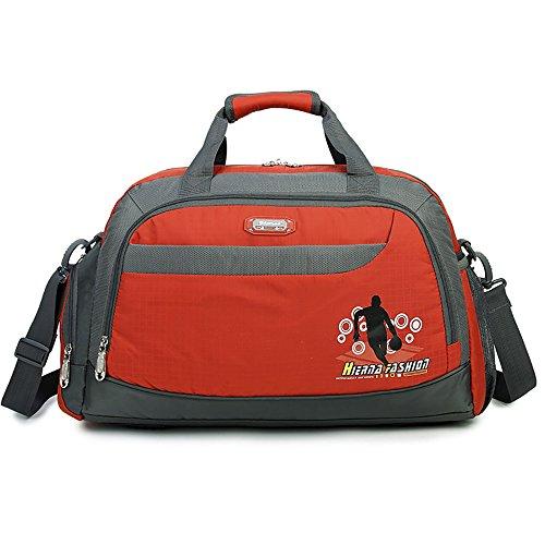 Soradoo Sporttasche 20L Teamtasche Handtasche Umhängetasche mit Abnehmbarer Schultergurt Orange