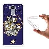 WoowCase Doogee Y6 4G Hülle, Handyhülle Silikon für [ Doogee Y6 4G ] Tierkreiszeichen Fische Handytasche Handy Cover Case Schutzhülle Flexible TPU - Transparent