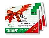 Sigel T1149 Aktion: 3 Fahrtenbücher FA614 für PKW, A6 quer, 40 Blatt, 2 Stück + 1 gratis