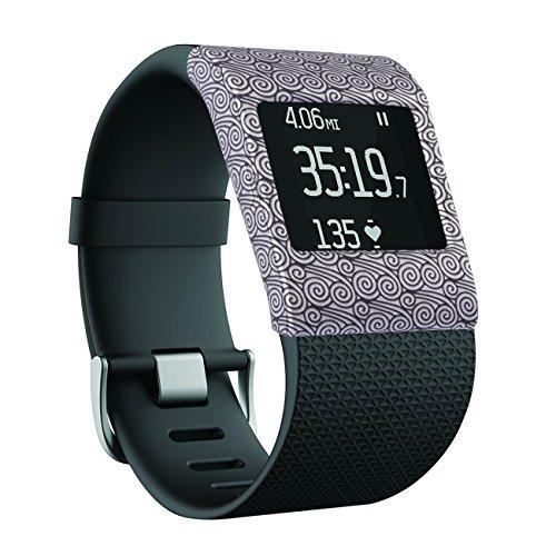 Greatfine Morbido vigilanza del silicone cinturino fascia di polso copertina Per Fitbit Surge (Yun)