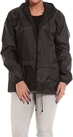 Army And Workwear Lightweight Ladies Rain Jacket Coat Kagoul Hooded Pac A Way Showerproof Mac Hood