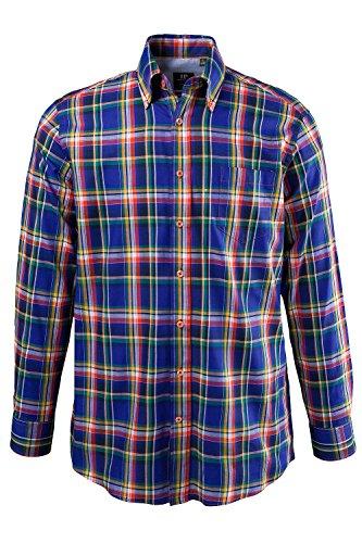 JP 1880 Homme Grandes tailles Chemise à carreaux, comfort fit 693884 Cobalt