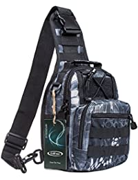S-ZONE Outdoor Multifonctionnel sac a dos Militaire Tactique sac poitrine sac a dos epaule sling sac randonnee Camping Trekking Voyage