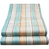 Decorativo Panel de madera patrón Contacto Papel autoadhesivo papel pintado Estante Liner Peel and Stick para cubrir armario de cocina encimera de estantes manualidades 60 x 300 cm