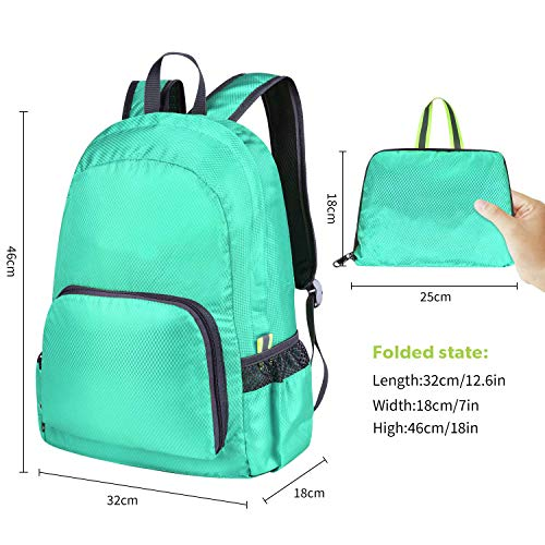 CLOMANA® Waterproof Foldable Multi Color Nylon Backpack for Multi-Function Use (Pack of 1) Image 3