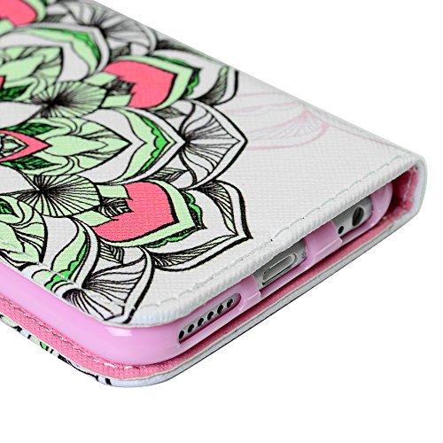 """Coque iPhone 6s /iPhone 6 (4.7""""), Lanveni Housse Étui Cuir PU Cartes Slots Phone Case de Protection - Demi-Totem Demi-Totem"""