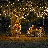 CYBERNOVA 12 m di lunghezza 100 a energia solare Luce natalizia LED, di colore (bianco caldo) per il partito e di natale