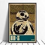 taoyuemaoyi BB-8 Star Wars Pop Art Minimalisme Vintage Film Affiche Décor À La...