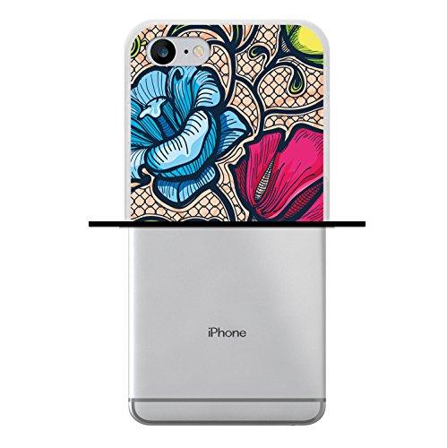 iPhone 7 Hülle, WoowCase Handyhülle Silikon für [ iPhone 7 ] Weisse Schokolade und Waffel Handytasche Handy Cover Case Schutzhülle Flexible TPU - Transparent Housse Gel iPhone 7 Transparent D0551